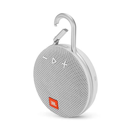 JBL Clip 3 Portable Bluetooth Waterproof Speaker - White (Renewed)