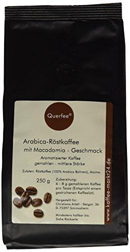 Querfee Kaffee mit Geschmack - Macadamia - Arabica Röstkaffee - gemahlen - 250 g, 1er Pack (1 x 250 g)
