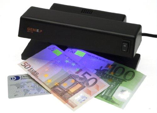 Genie MD 188 Détecteur de faux billets de banque avec 1 tubes d UV puissants - tubes fluorescents et ampoules