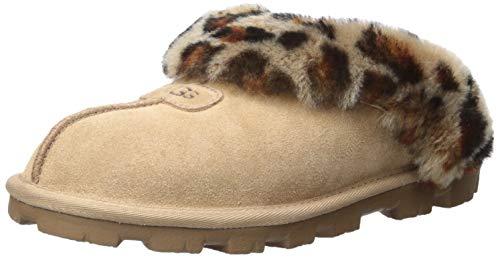 UGG Women's Coquette Leopard Slipper, Amphora, 12 M US