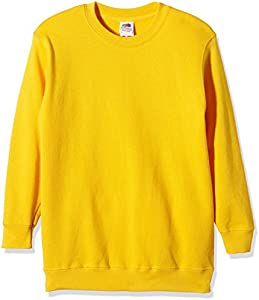 Fruit of the Loom, Sudadera Infantil, Amarillo (Sunflower Yellow), 9-11 Años