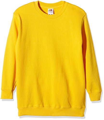 Fruit of the Loom, Sudadera Infantil, Amarillo (Sunflower Yellow), 7-8 Años