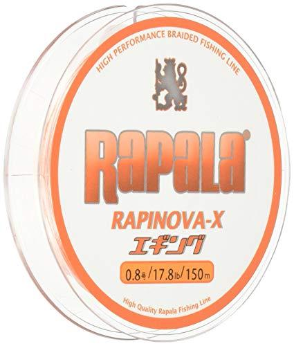 Rapala(ラパラ) PEライン ラピノヴァX エギング 150m 0.8号 17.8lb ホワイト/オレンジ RXEG150M08WO