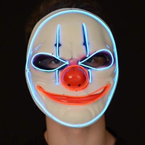 Outfit voor Halloween - Neon masker Clown Eén maat multicolor