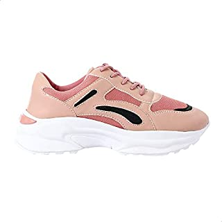 حذاء رياضي برباط ونعل مختلف اللون وسائط متددة للنساء من جرينتا