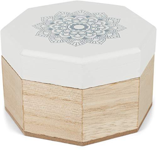 styleBREAKER Caja de joyería de Madera de 8 Bordes con impresión de Flores de Mandala...