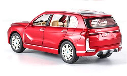 Diecast Model Car 1:24 para BMW X7 Modelo De Coche De Aleación De Coche De Juguete Fundido A Presión Modelo De Coche De Juguete para Niños Coleccionables (Color : 4)
