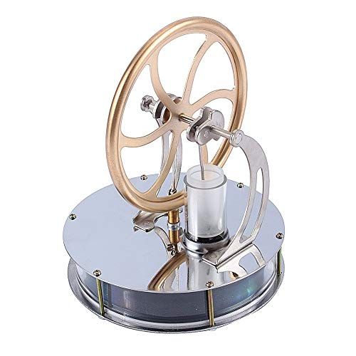 Yosoo Niedriger Temperatur Stirling Motor Stirlingmotor Sterling Engine Perpetuum Mobile Beta Stirling Engine Handwärme Stirling pädagogisches Physik Spielzeug Kit Großes Geschenk