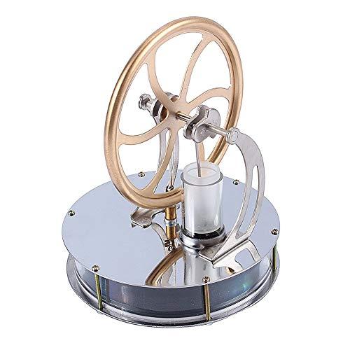 Yosoo Niedriger Temperatur Stirling Motor Stirlingmotor Sterling Engine Perpetuum Mobile Beta Stirling Engine Handwärme Stirling pädagogisches Physik Spielzeug Kit Großes Geschenk