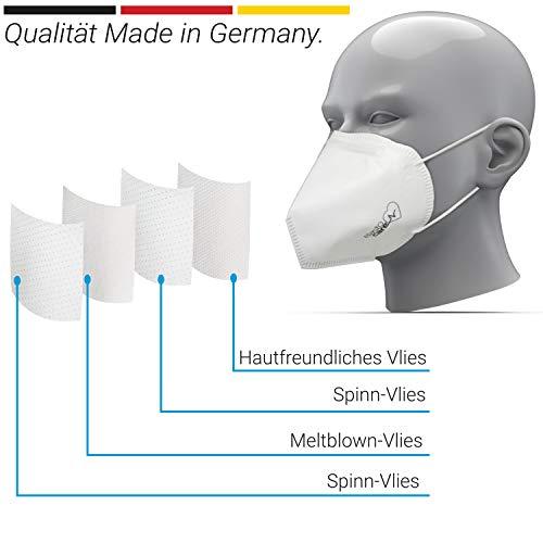 10x FFP3 Atemschutzmaske CE-Zertifiziert Made IN Germany FFP3 Maske Staubschutzmaske Atemmaske Staubmaske 10 Stück verpackt in Aufbewahrungsbox und hygienischen PE-Beutel - 4