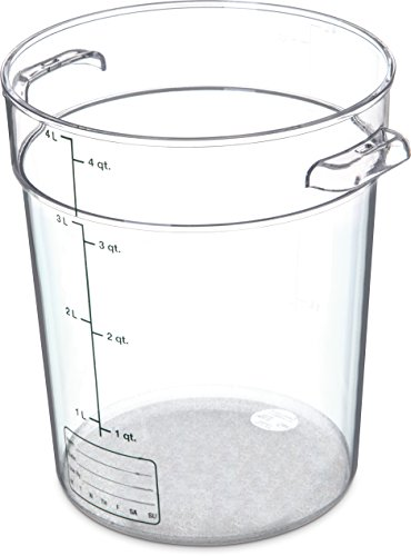 Carlisle 1076407 StorPlus Polycarbonate Round Food Storage Container, 4 Quart, Clear
