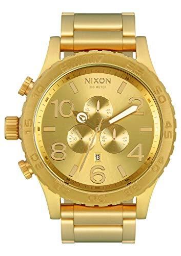 Nixon Reloj Cronógrafo para Hombre de Cuarzo con Correa en Acero Inoxidable Chapado A083-502-00