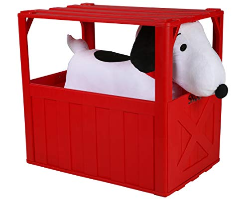 Plush Snoopy 6V Ride-on Toy with Dog House