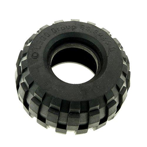 1 x Lego Technic Rad Ballon Reifen schwarz 68.8 x 40 Q gross solo Technik für Set 5561 8439 8459 8858 2995