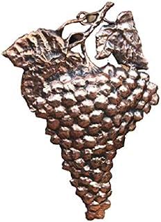 Uva grappolo vigna con calabrone in rame decorazione da parete cesellato lavorato a mano