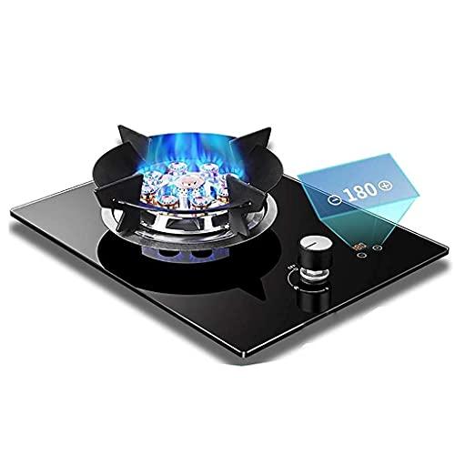 Professionell gasspis, bärbar gasspis, ny gasspis skrivbord/inbäddad enkel gasspis 5,2 KW svart glasspis/spis/spishäll med flamfelskydd för uppvärmning/matlagning/kokning/stekning/stekning/