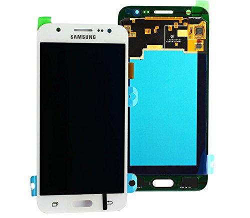 Original Samsung Galaxy J5 2015 SM J500F J500 LCD AMOLED Display Touchscreen Digitizer Einheit OCTA Weiß GH97-17667A