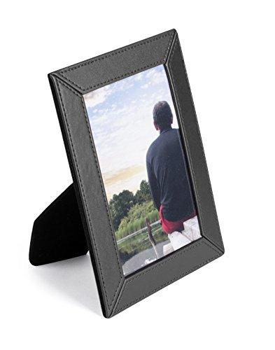 """PAVO Premium""""Chic"""" - Marco de fotos (10 x 15 cm, piel sintética), color negro"""