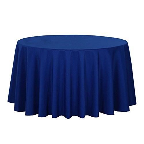 LSHEL Nappe Ronde de Table Nappe en Polyester de Couleur Pure Rectangle 180 * 180cm Vert foncé