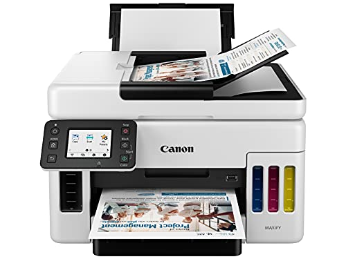 Canon GX6020 All-in-One Wireless Supertank Printer for Businesses [Print, Copy, Scan and ADF], White