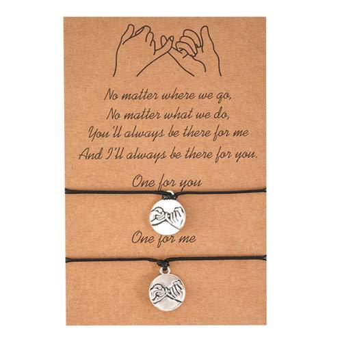 Sperrins 2 pièces promesse bracelets amitié couple distance correspondance graduation bracelet cadeau