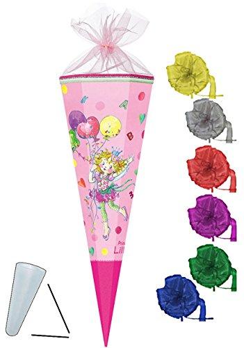 alles-meine.de GmbH Schultüte -  Prinzessin Lillifee  - 35 cm - rund - incl. Schleife - mit Tüllabschluß - Zuckertüte - Nestler - mit / ohne Kunststoff Spitze - für Mädchen - B..