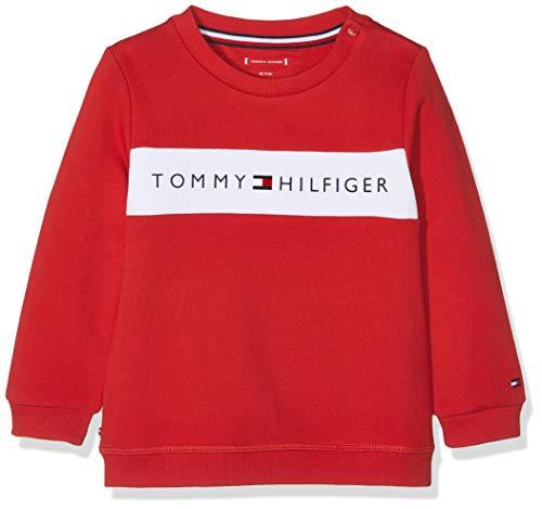 Tommy Hilfiger Baby Tommy Loopback Sweatshirt Sudadera, Rojo (Apple Red 600), 58 (Talla del Fabricante: 56) para Bebés