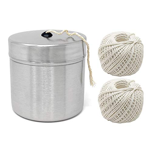 Norpro Stainless Steel Holder with Cotton Cooking Twine (660-Feet) Bundle (3 Items)