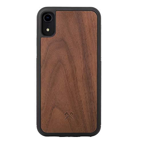 Woodcessories - Hülle kompatibel mit iPhone Xr aus Holz - EcoBump Case (Walnuss)
