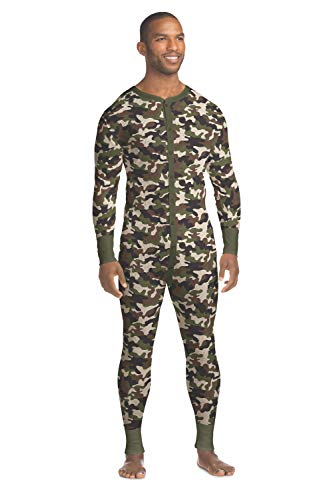 Hanes Men's Waffle Knit Thermal Union Suit with FreshIQ, X-Temp Technology & Organic Cotton