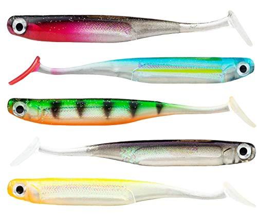 FISHN® LURIEone - 5 Pesci di Gomma 10 cm, 5 gr per la Pesca di lucioperca, persici, Lucci e trote