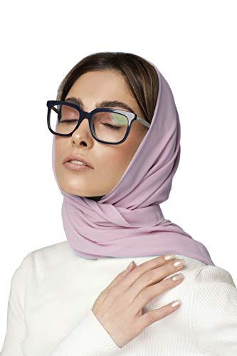 KNOTTED NEW YORK Lavender Chiffon Scarf | Chiffon Hijab | Bridal Scarf | Summer Scarf | Gift for Women