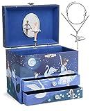 Jewelkeeper - Caja musical Jewelkeeper de bailarina y juego de joyas de niñitas - 3 regalos de bailarina para niñas