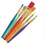 Huixindd 6 Coloridos Pinceles Artistas, Conjunto de bolígrafos para Principiantes para niños, Herramientas de Pintura al óleo de Acuarela
