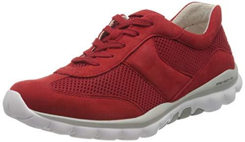 Gabor Shoes Damen Rollingsoft Sneaker, Rot (Flame 68), 37.5 EU