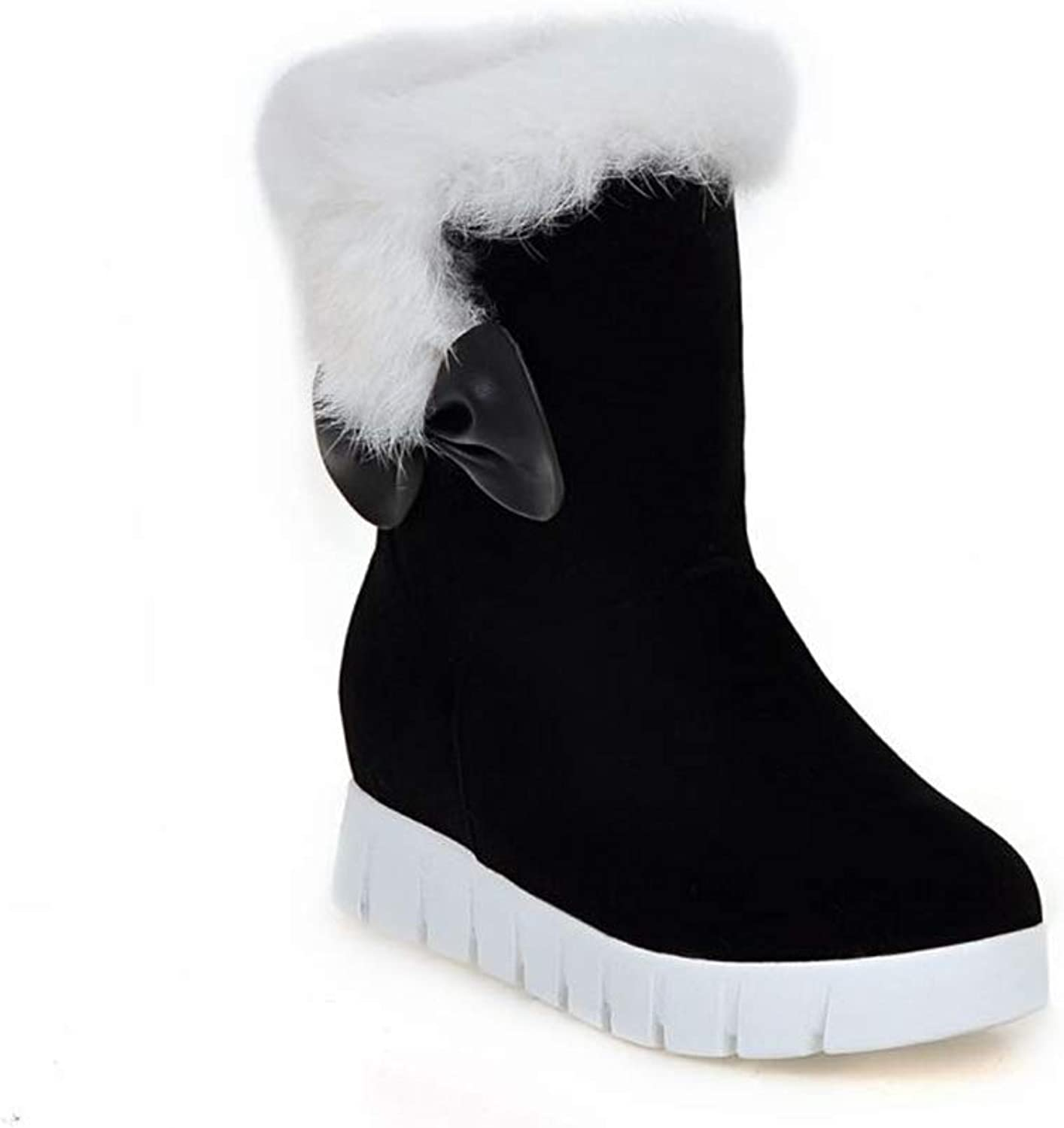 Women's Fashion Boot Winter Warm Short Bow Comfort Snow Boots shoes
