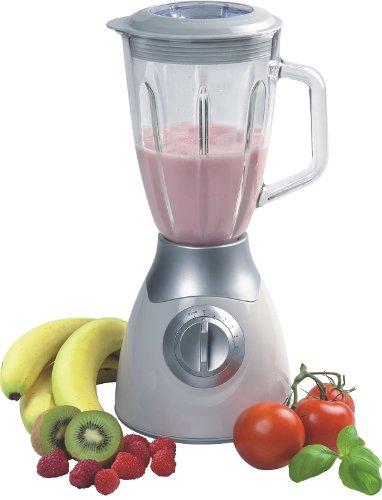 Fixer Mixer–stand Mixer con 1,5L vetro caraffa–multi Mixer per mescolare e Shaken di succhi, latte frullati, fruchtdrinks, yogurt Mix ecc.–Frullatore per tagliare e passa con forti 600Watt con dosatore–bianco-argento–nuovo e in confezione originale.