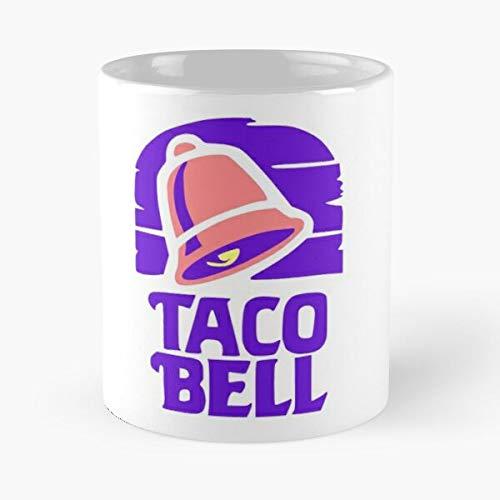 Logotipo más vendido popular símbolo de taco The recient Bell más nuevo más mejor taza de café de cerámica de 315 ml Eat Food Bite John Best 11 oz taza de café de cerámica