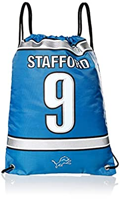 Detroit Lions Stafford M. #9 Player Drawstring Backpack
