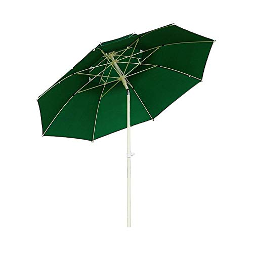 ZGYQGOO Garden Parasol Sun Umbrella Patio Parasol Patio Assez Robuste, Protection UV 8,2 Pieds Grand Parasol extérieur Sunbrella résistant au Vent avec mécanisme d'inclinaison, Facile à Mettre