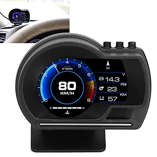 Denkerm HUD Digital, frecuencia de actualización de 10 Hz HUD Velocímetro Head Up Display Pantalla HD con Soporte Giratorio para automóvil para automóvil