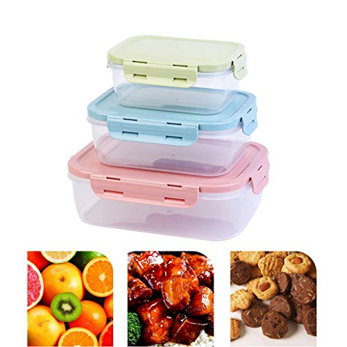 Eten Storage Containers Set, luchtdichte plastic containers met gesp ontwerp, BPA-vrij - Stackable Diepvries Koelkast keuken Storage Containers