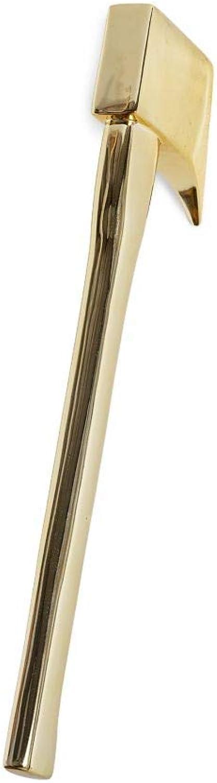 Seletti, museum accetta i tuoi nemici ascia by max huges, in resina color oro,appendiabiti Oro S