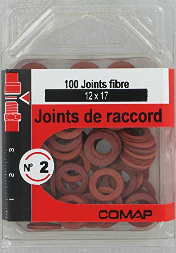 Comap 100 Joints fibre pour raccords. 12 x 17. S279132 Rouge