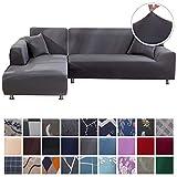 SearchI Fundas Sofa Elasticas Chaise Longue,Extraíbles y Lavables,Moderno Cubre Sofa Chaise Longue Universal Fundas...