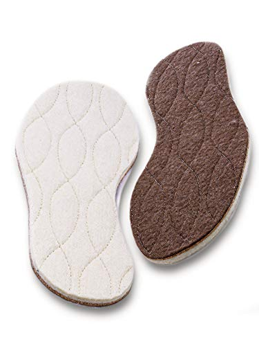 pedag Kids Keep Warm Insulating Insoles, Made in German, Quilted Lamb Wool, Felted Bottom, Cork Inner Layer, All Natural Materials, Kids 4/5 EU 34/35