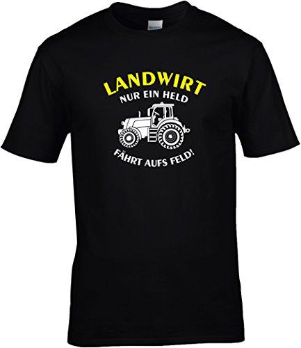 Fun shirt spreuken boer - alleen een held rijdt op het veld m. tracor