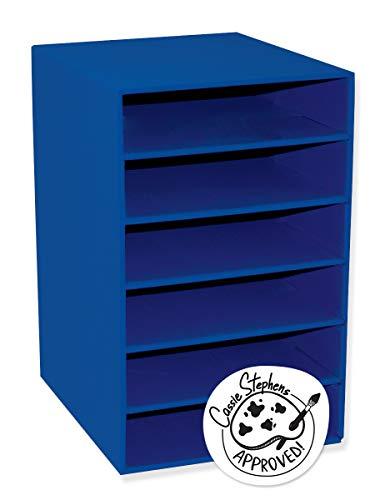 Classroom Keepers 6-Shelf Organizer, Blue, 17-3/4'H x 12'W x 13-1/2'D, 1