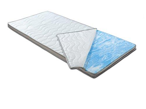 BMM Topper KSCell® Gel-Schaum Matratzenauflage für Matratzen, SilverCare 3D-Klimaband Border Bezug, Härtegrad H2 Soft, Höhe 8cm, 90x200cm