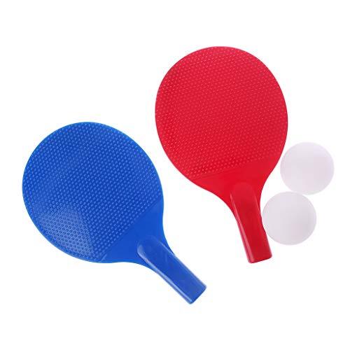 suoryisrty Raqueta de tenis de mesa de plástico de ping pong de remo de los niños juguetes de fitness de entretenimiento